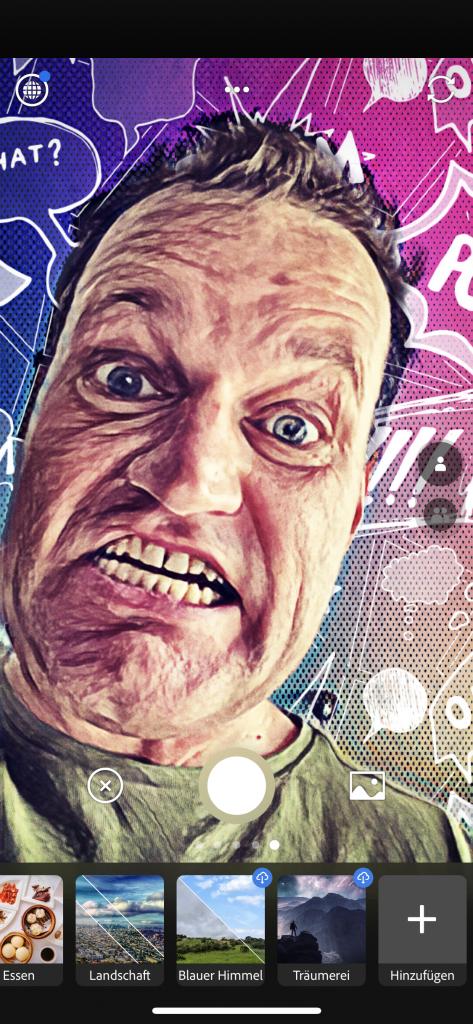 Selfie Pop Art mit Adobe Photoshop Camera