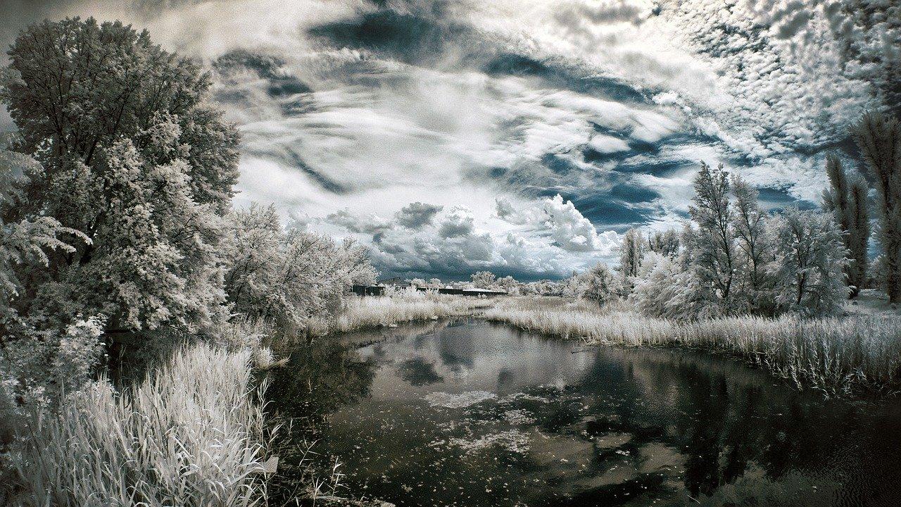 Infrarot-Bild Landschaft